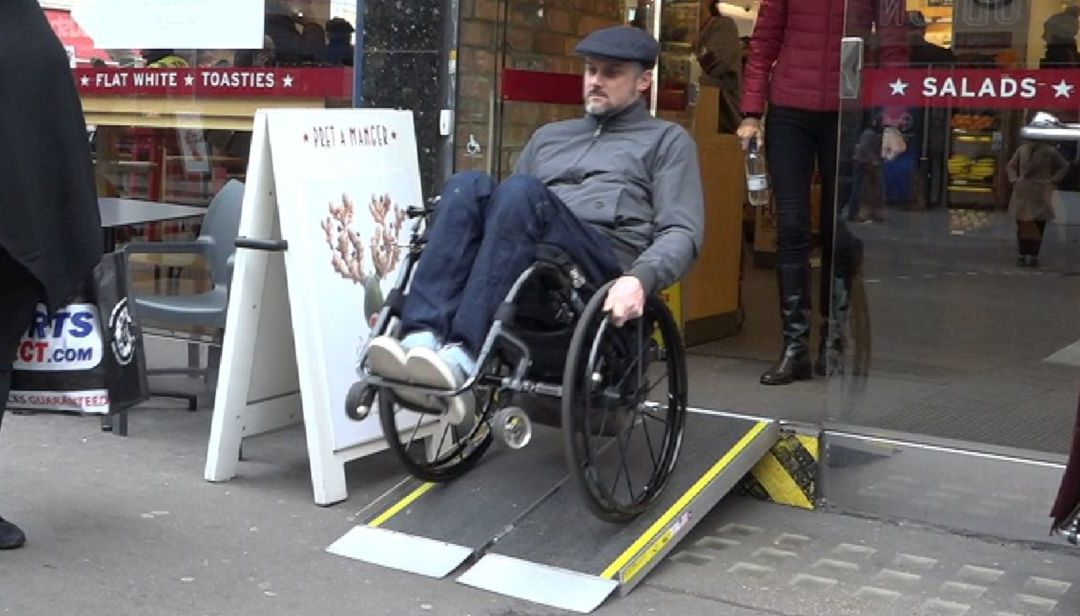 High street chains exposed on trip out with disabled person